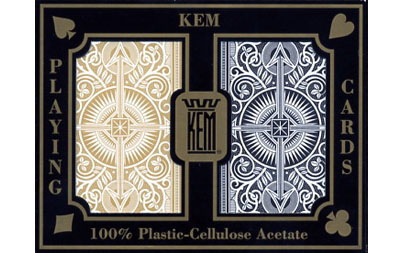 Bilde av Kem Arrow Black and Gold Pokerkort Reg. Index 2pk.