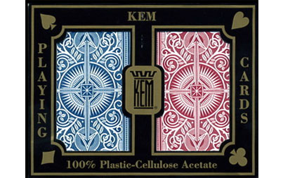 Bilde av Kem Arrow Red and Blue Pokerkort Reg. Index 2pk.