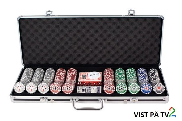 Bilde av 500 Royal Flush Cash og Turnering Sjetonger 14g 1-100