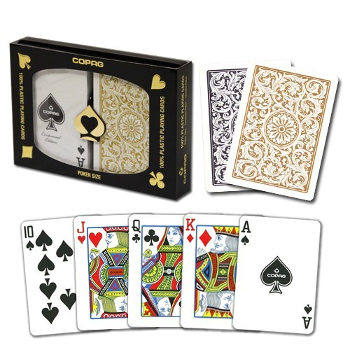 Bilde av Copag Pokerkort Reg. Index. 2pk. Black and Gold