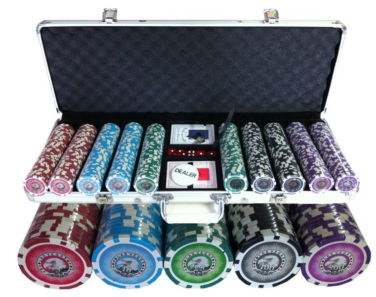 Aluminiums Koffert for 500 Sjetonger Pokerutstyr.no