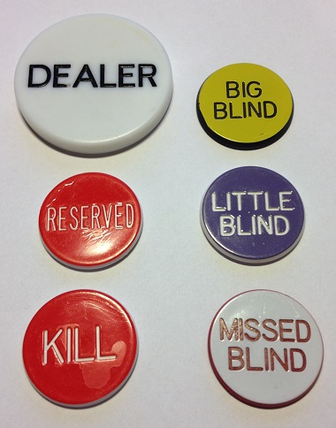 Bilde av Stort poker button set